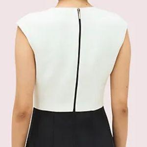 Kate Spade Back Zip Color Block Fit Flare Dress M